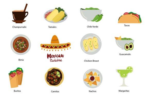 Food mexican. Mexico clip art clipart