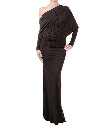 Love this Black Off-Shoulder Maxi Dress - Women by Karen T. Design on #zulily! #zulilyfinds