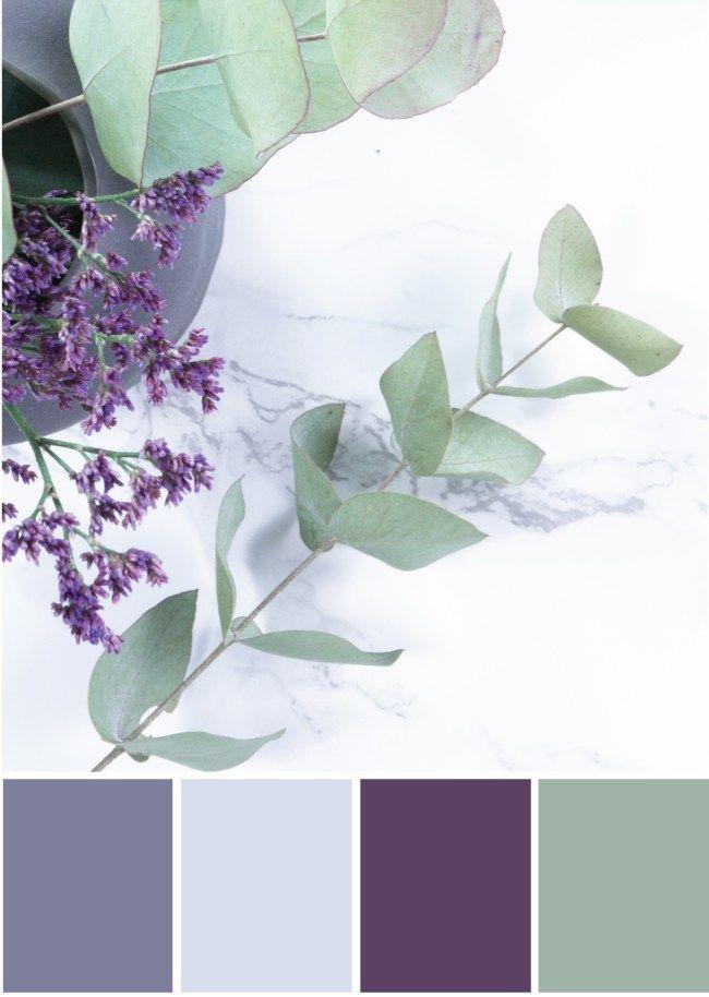 Farbpalette Grau - Lila Grün -Tweed  Greet Farben Pinterest - wohnzimmer grun grau streichen