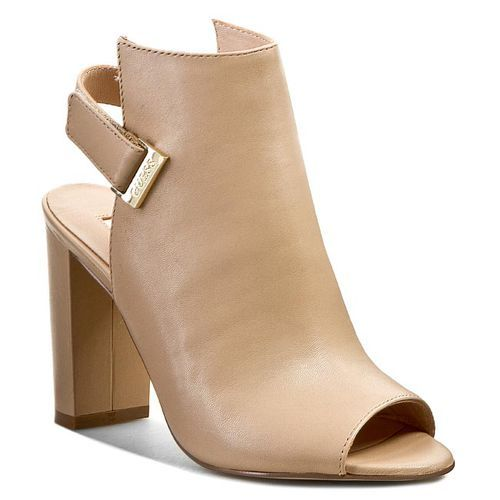 Be fashion forward this spring with these casual open toe guess booties!