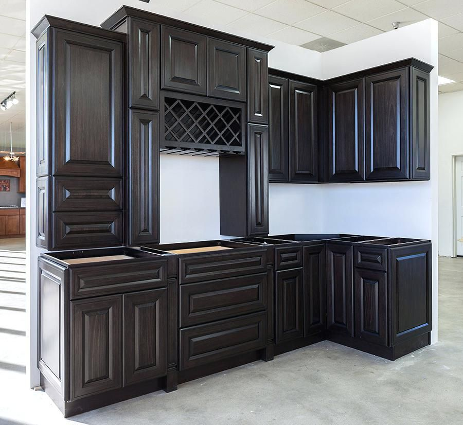 charcoal kitchen cabinets mitered charcoal kitchen ...