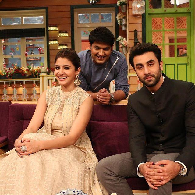 Ranbir Kapoor And Anushka Sharma On The Kapil Sharma Show Bollywood Bollywood Celebrities Bollywood Actors Bollywood