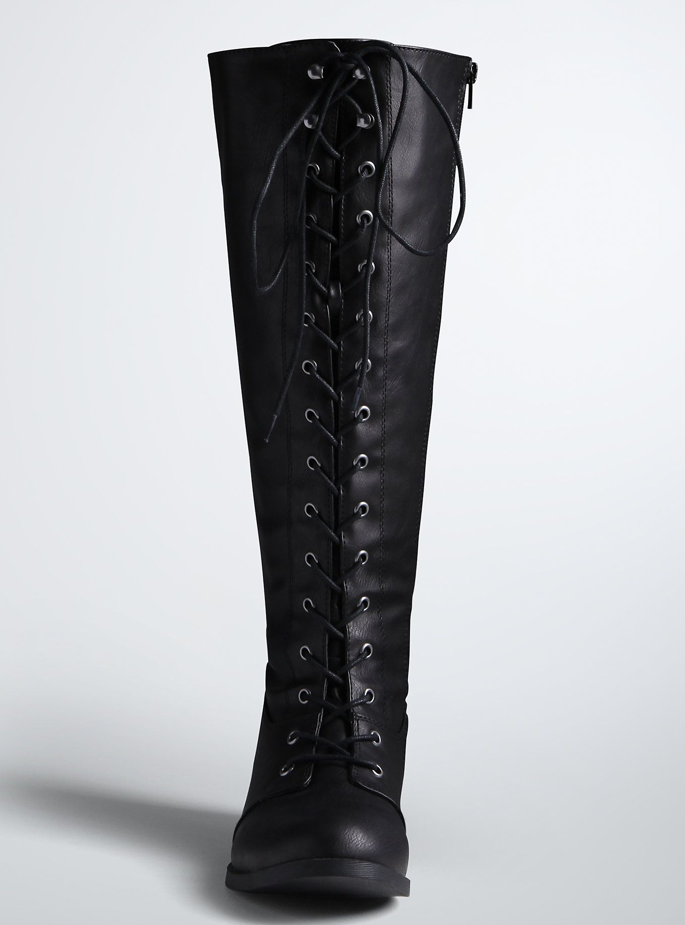 Lace Up Tall Riding Boots (Wide Width