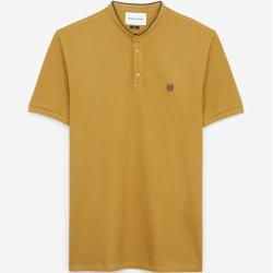 The Kooples - Yellow insignia slim fit polo with buttons - Damen #cottonstyle