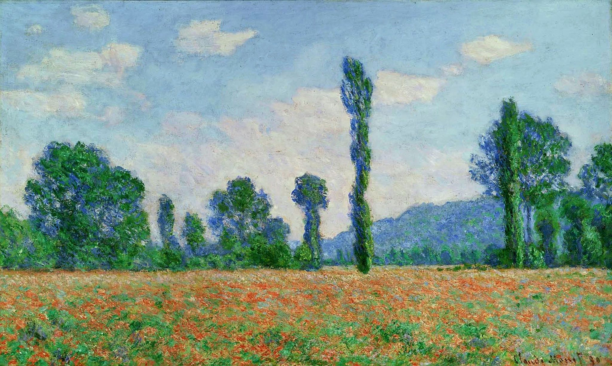 Poppy Field in Giverny, 1890 01 | Giverny monet, Claude monet paintings,  Monet oil paintings