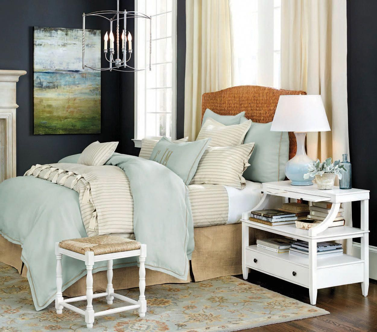 Bed under window  bedrooms  how to decorategallery coastalbedrooms