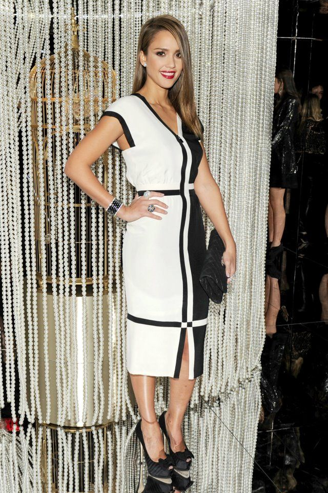Chanel black and white dress classic