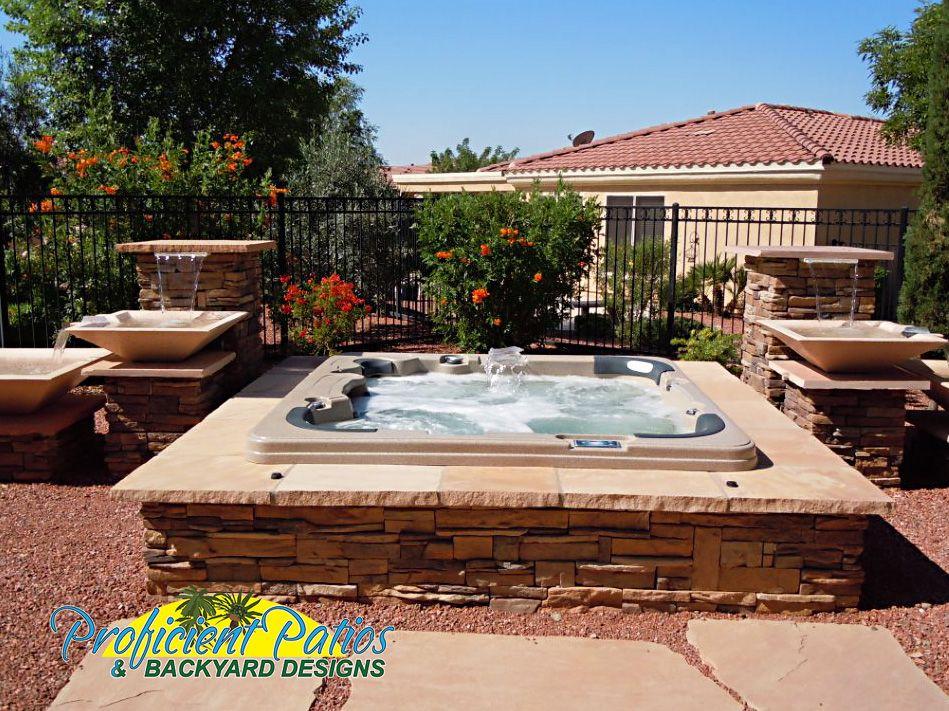 Hot Tubs Proficient Patios Backyard Designs Hot Tub In Ground Spa Sedona Spa