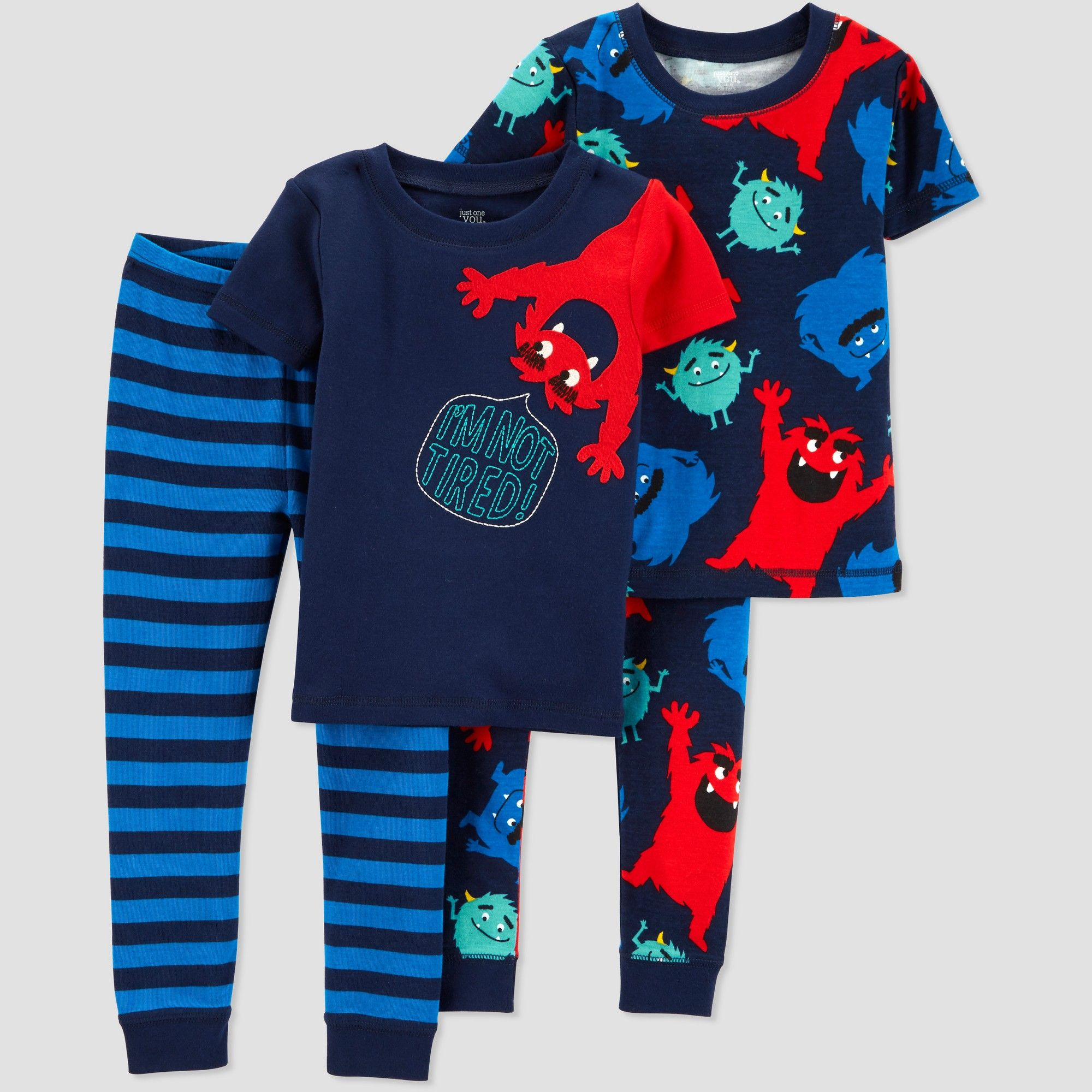 e0da32bfd1ac Toddlers Boys  4pc Monster South Pajama Set - Just One You made by ...