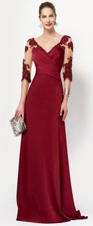 Gorgeous tulle u acetate satin vneck neckline length sleeves a