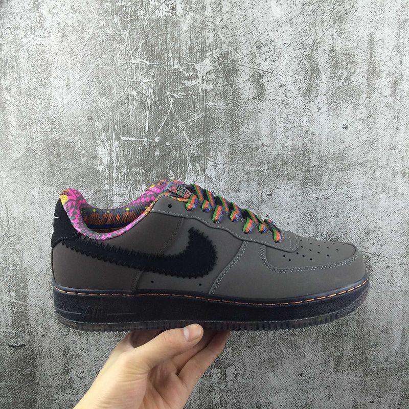 best website fa793 251f2 Genuine Nike Air Force 1 AF1 Low Dark Grey Black Noir Youth Big Boys Shoes