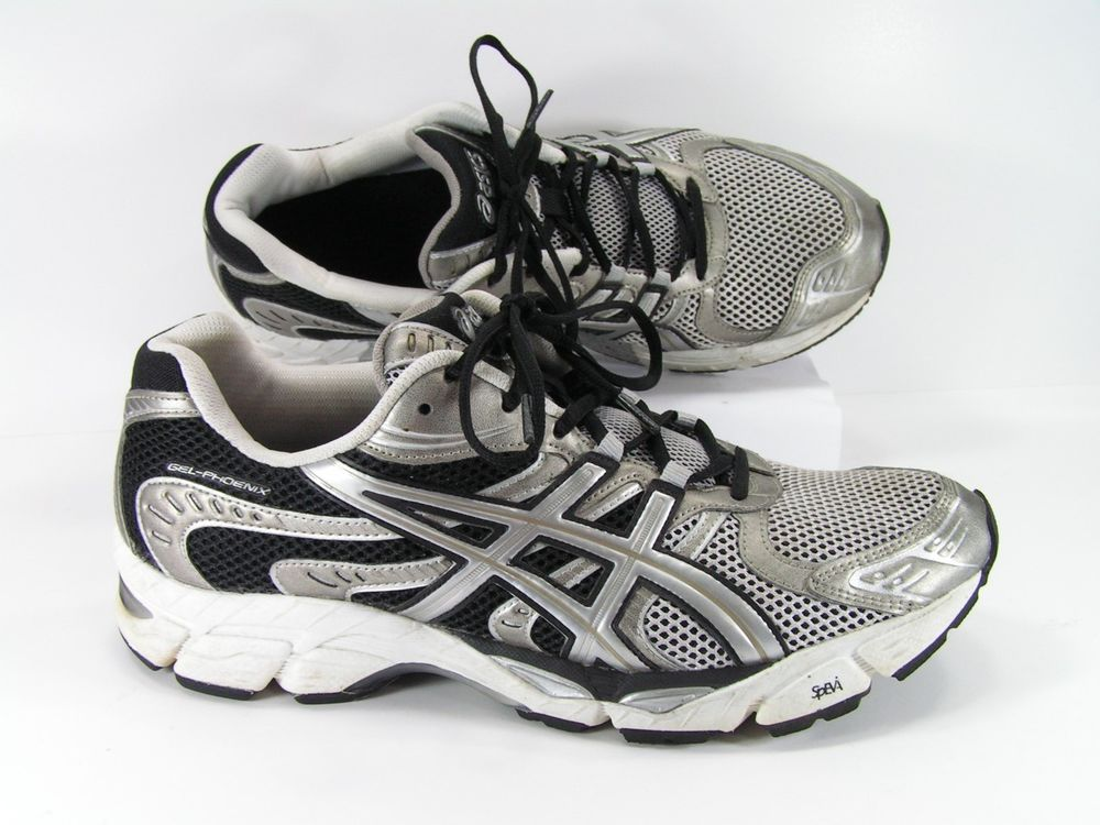 Asics gel phoenix mens 11.5 D running shoes black silver ...