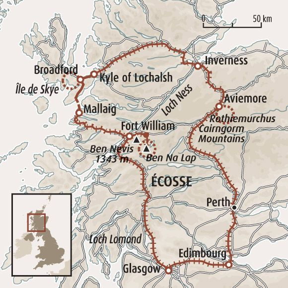 Extrêmement Circuit carte Ecosse : La belle Ecosse en train ! Descriptif  UB08