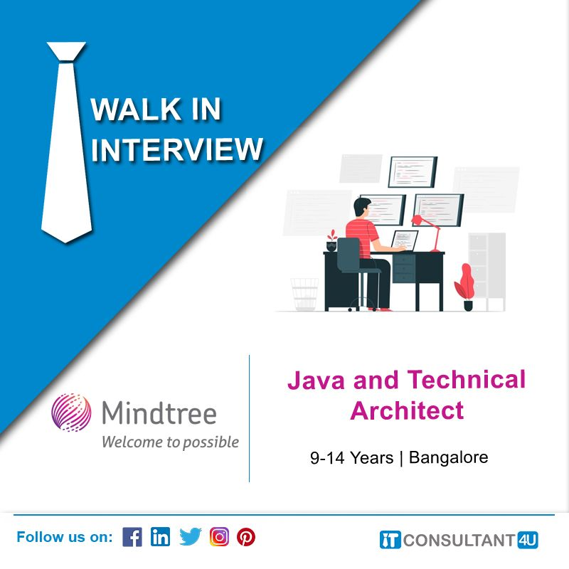 Mindtree Is Hiring Java And Technicalarchitect Itconsultant4u Help Finding A Job Job Posting Find A Job