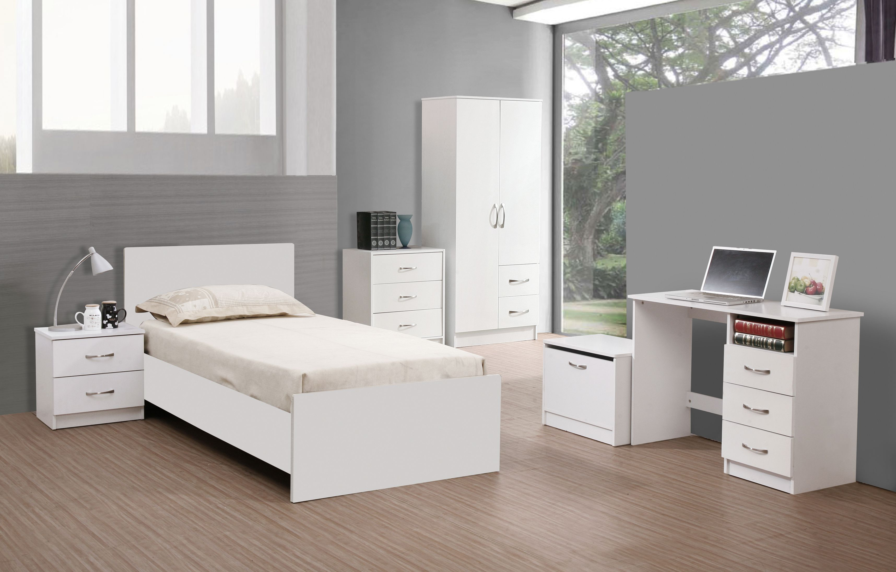 25 Elegant White Wood Bedroom Furniture Sets In 2020 White