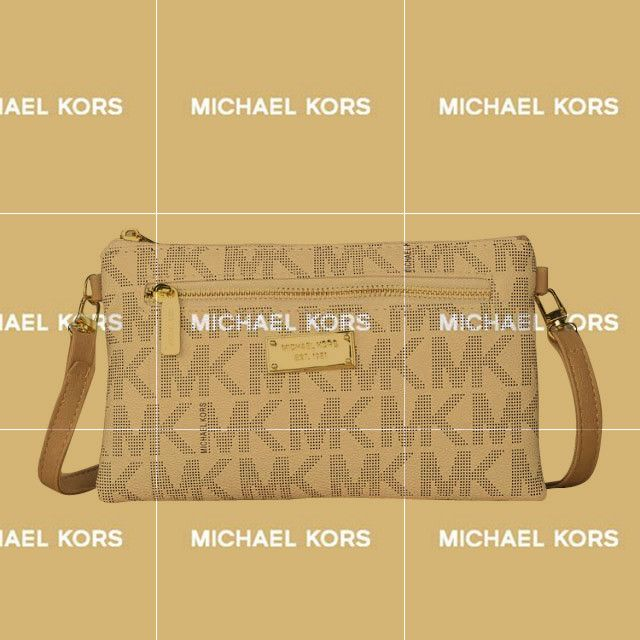 Michael Kors Extra Signature Logo Medium White Crossbody Bags Is Hottest And Cheapest, Welcome To Buy It!
