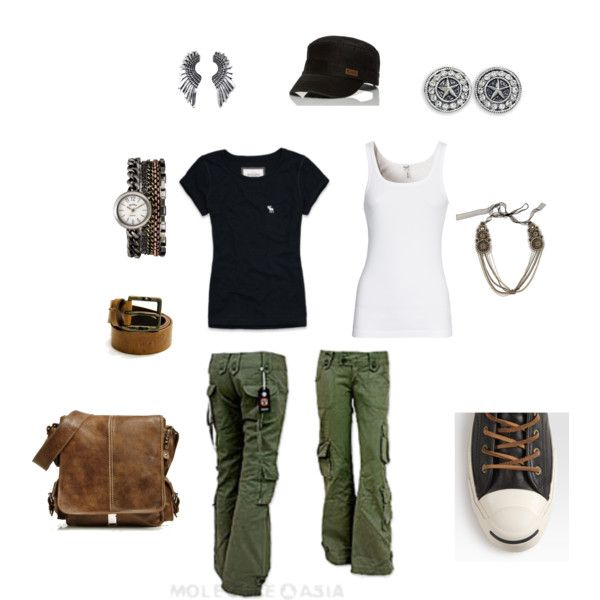 cargo converse, created by carly1d on Polyvore