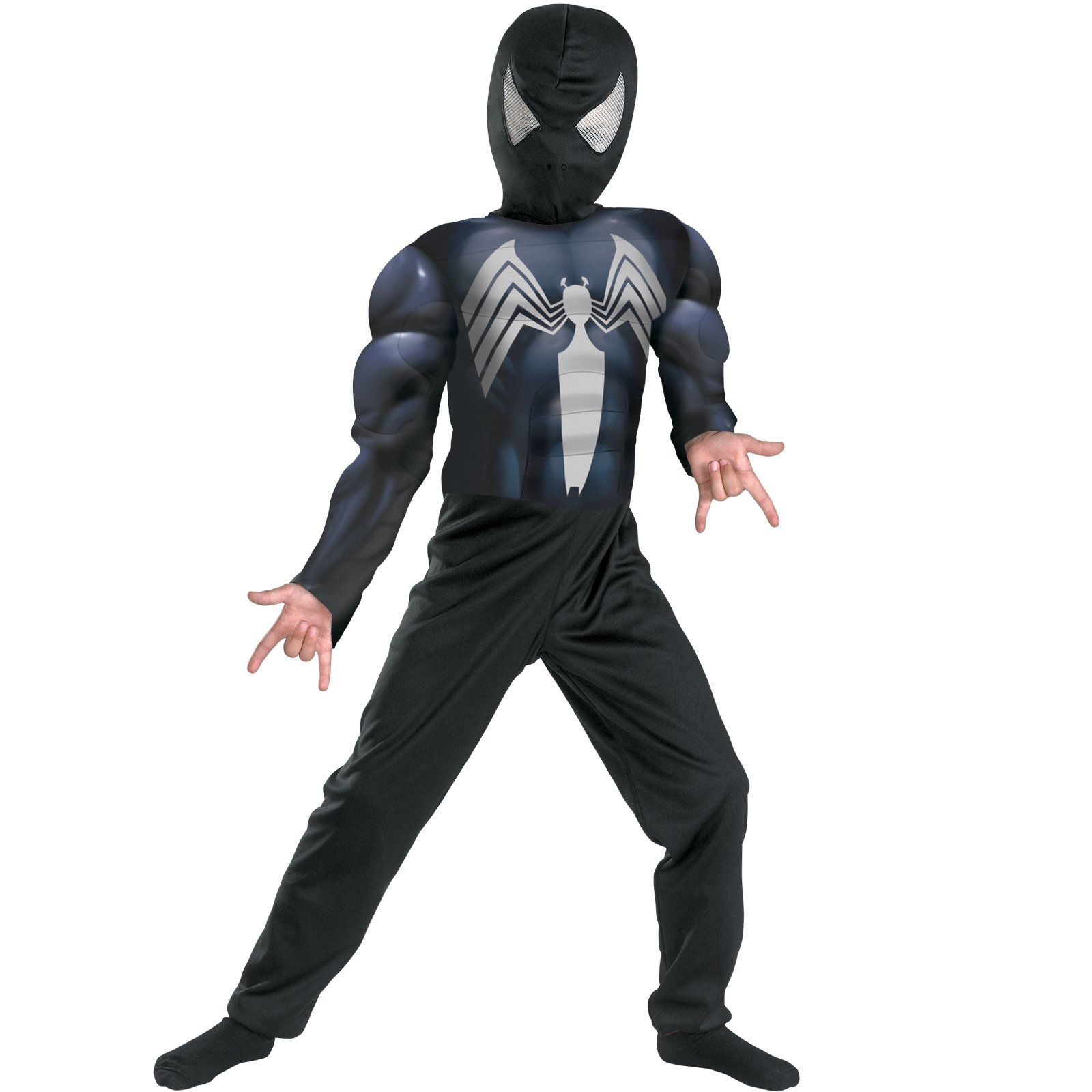 Venom Symbiote Costume Spider-Man Kids Adult Fancy Dress Cosplay Dress Outfit