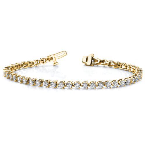 14k Gold 8 3/4 Carat Diamond tennis bracelet. $10,200