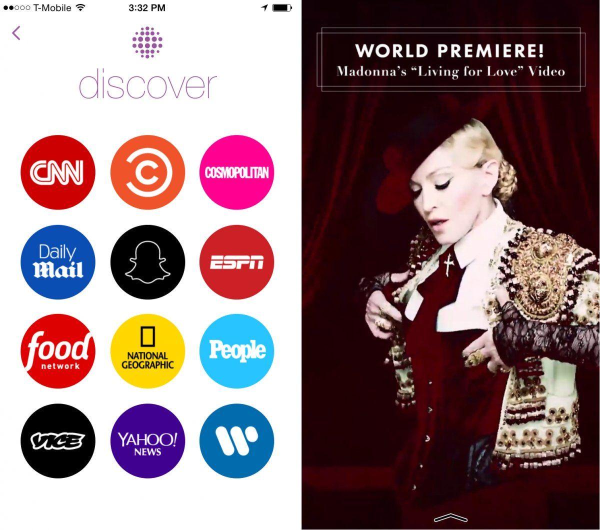 Snapchat Madonna nouveau clip