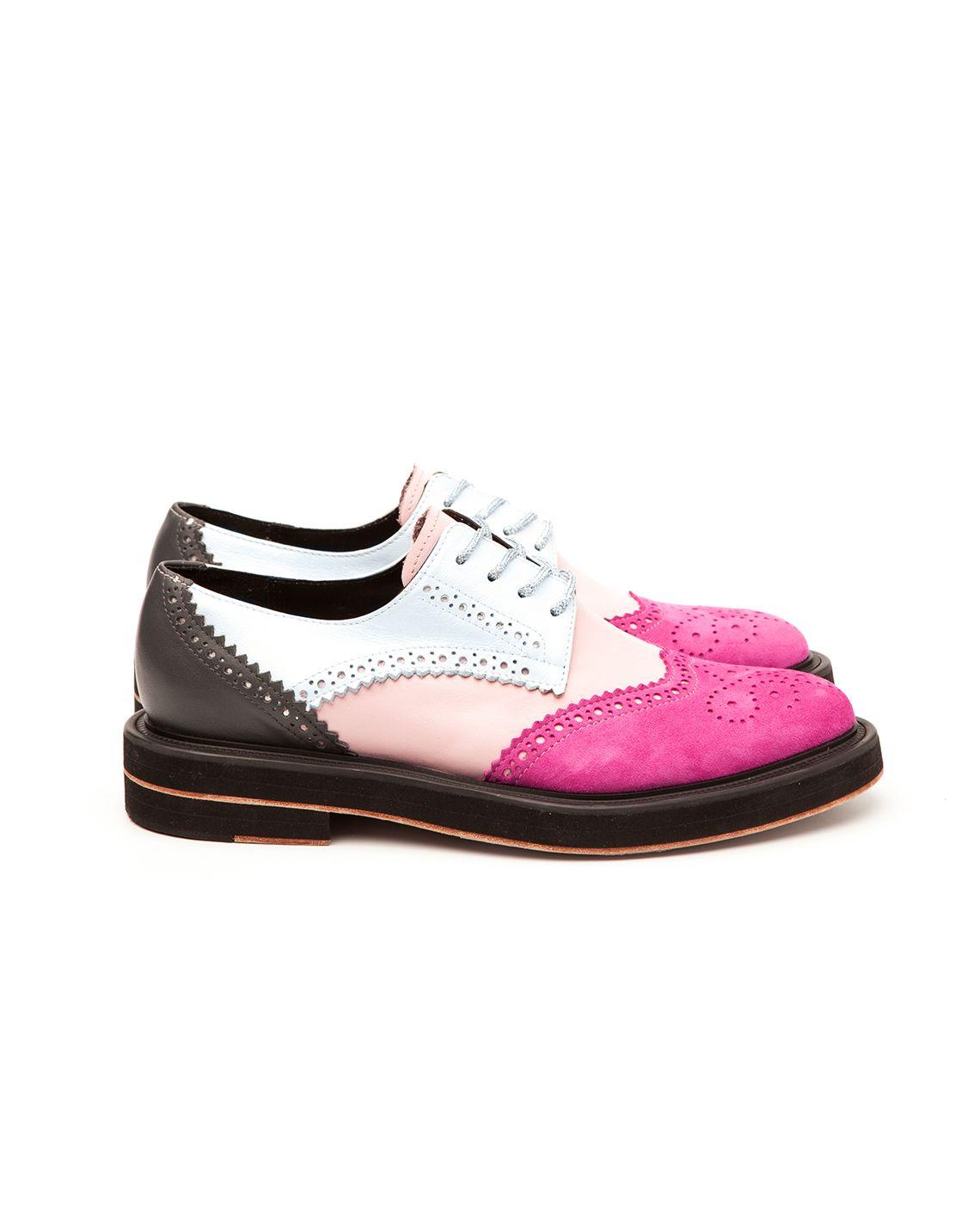Magenta & Blush Pink Derby Brogues – INCH2