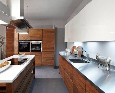 Grifflose Kuche Holzfront Grifflose Kuchen Pinterest Kitchens