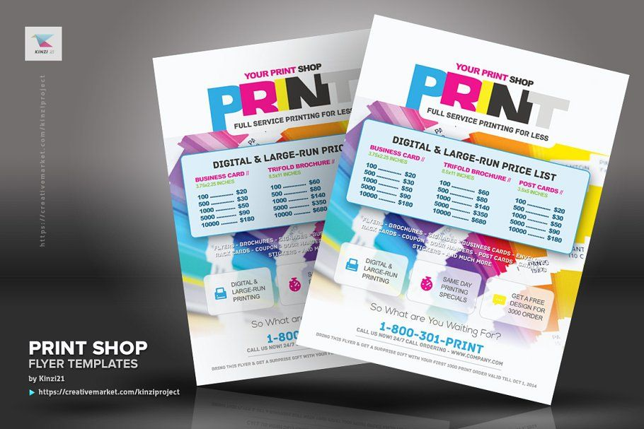 Ad Print Shop Flyer Template By Kinzi21 On Creativemarket Print Shop Flyer Template These Flyers Are Ideal For Print Shop Or Flyer Template Print Shop Flyer