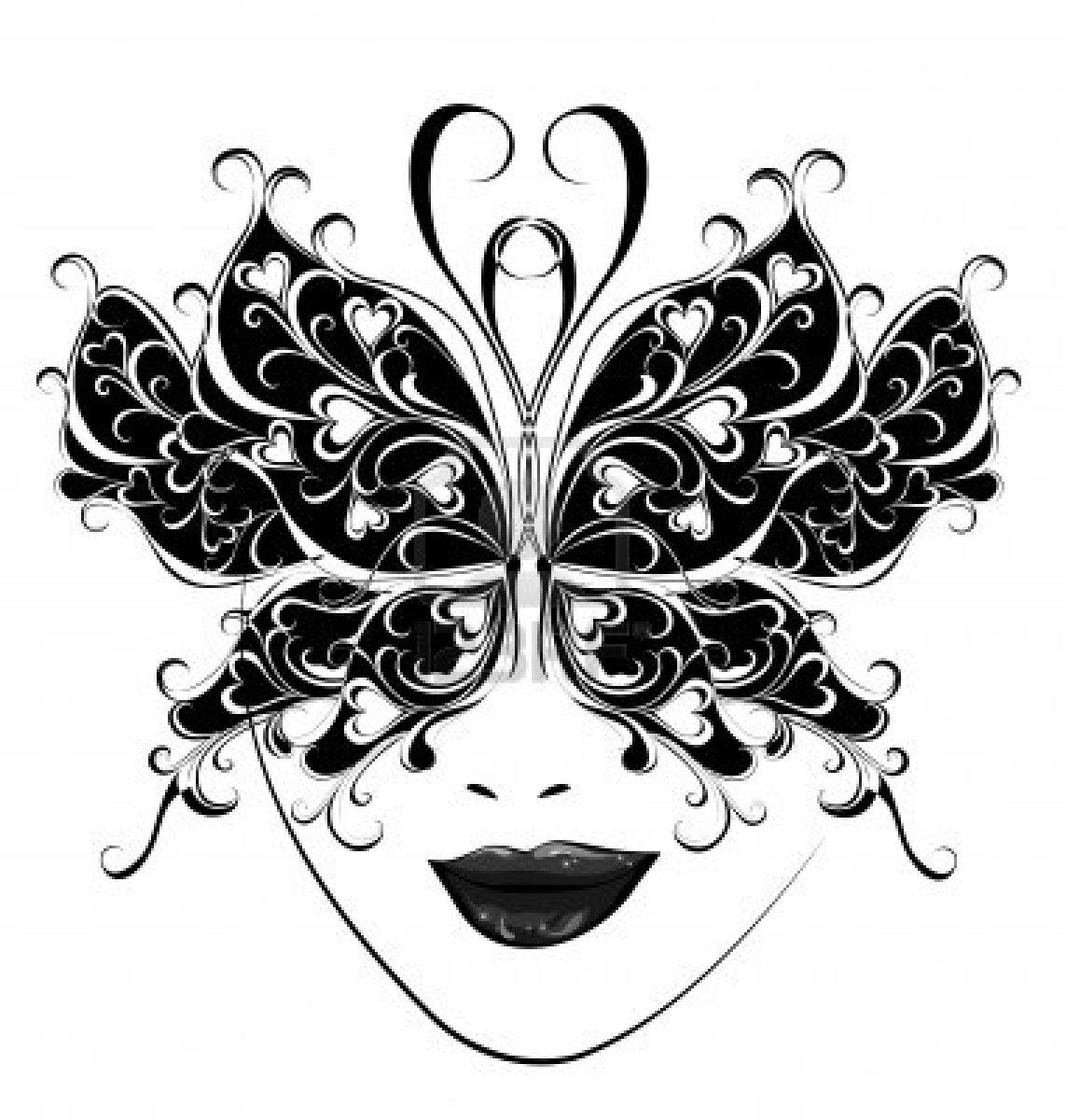 illustration of carnival mask butterfly masks for a masquerade vector art clipart and stock vectors image 16258130  [ 1143 x 1200 Pixel ]