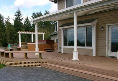 White Aluminum Patio Cover With Custom Foot Posts