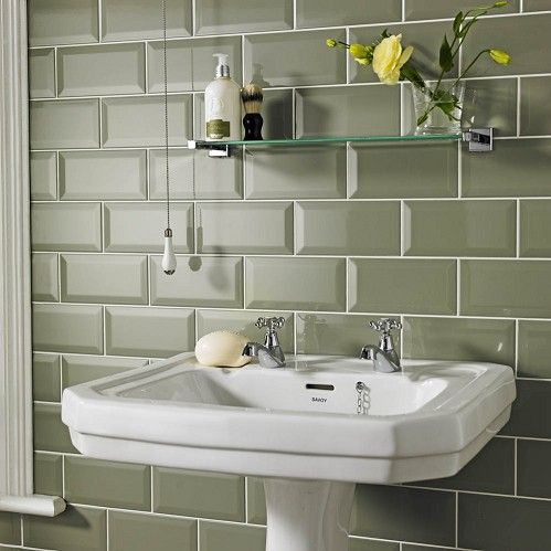 bathroom interior sage metro tiles homebase - Bathroom Tiles Homebase