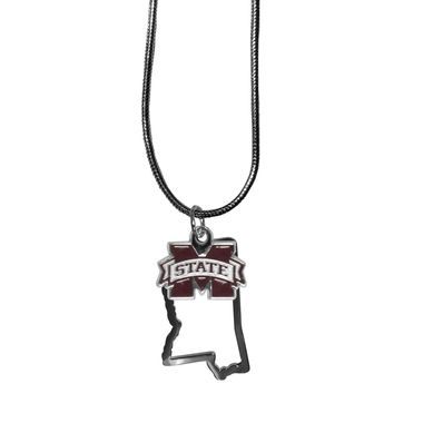 Mississippi St. Bulldogs State Charm Necklace