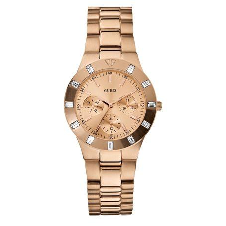 Reloj Guess de acero inoxidable rosa, por 215€ en Bellido.