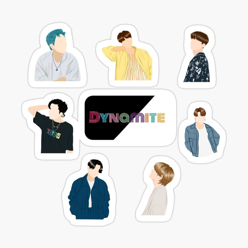 Bts Dynamite All Members Sticker Pack Sticker By Minyoonga In 2020 Bts Wallpaper Cute Stickers Bts