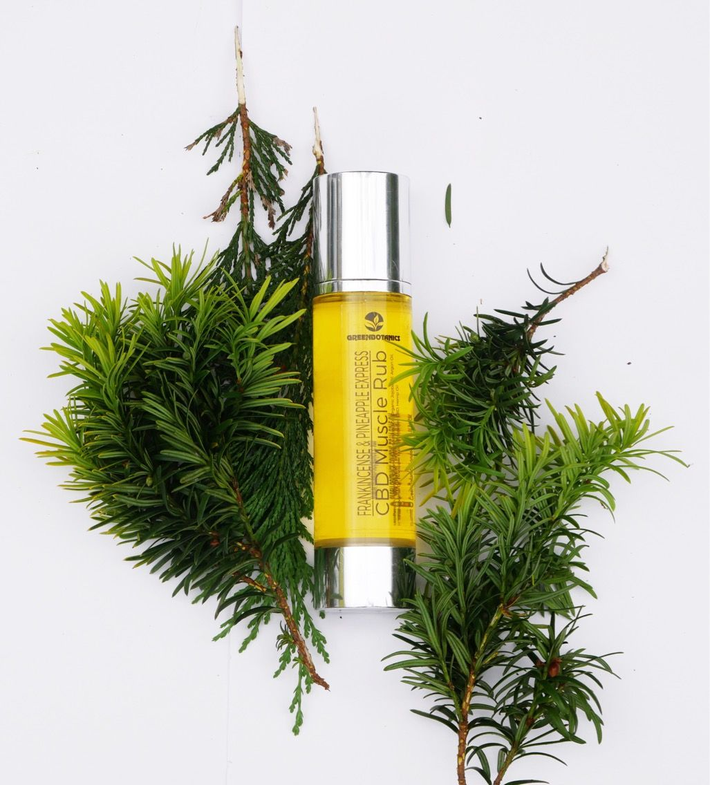 100ml Energising massage oil containing 420mg of CBD
