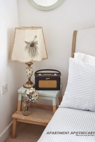 Idee fai da te per la camera da letto i comodini casa al mare furniture makeover home - Camera da letto casa al mare ...
