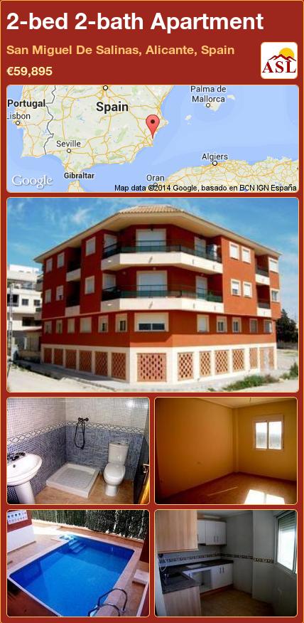 2-bed 2-bath Apartment in San Miguel De Salinas, Alicante ...