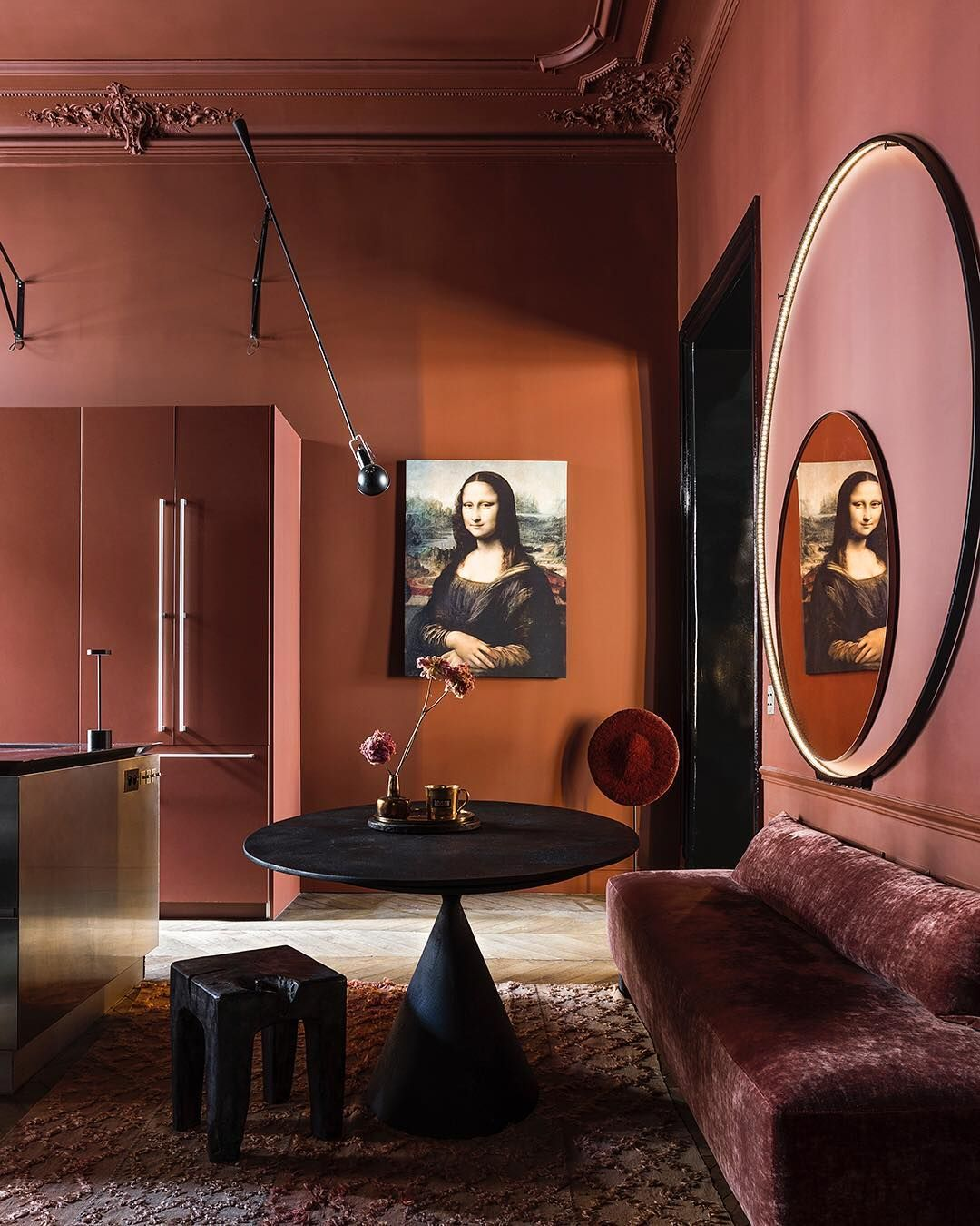 Riviste Di Design D Interni.Rust Living Room Aphrochic Color Crush Mauve Nel 2019 Living
