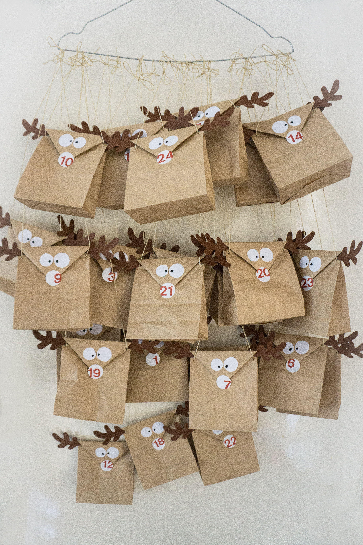 24 DIY Adventskalender Tüten Beutel zum selber befüllen Advent Kalender Papier