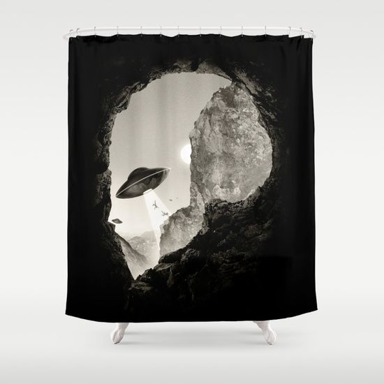 Alien S Head Shower Curtain Curtains Tapestry Prints
