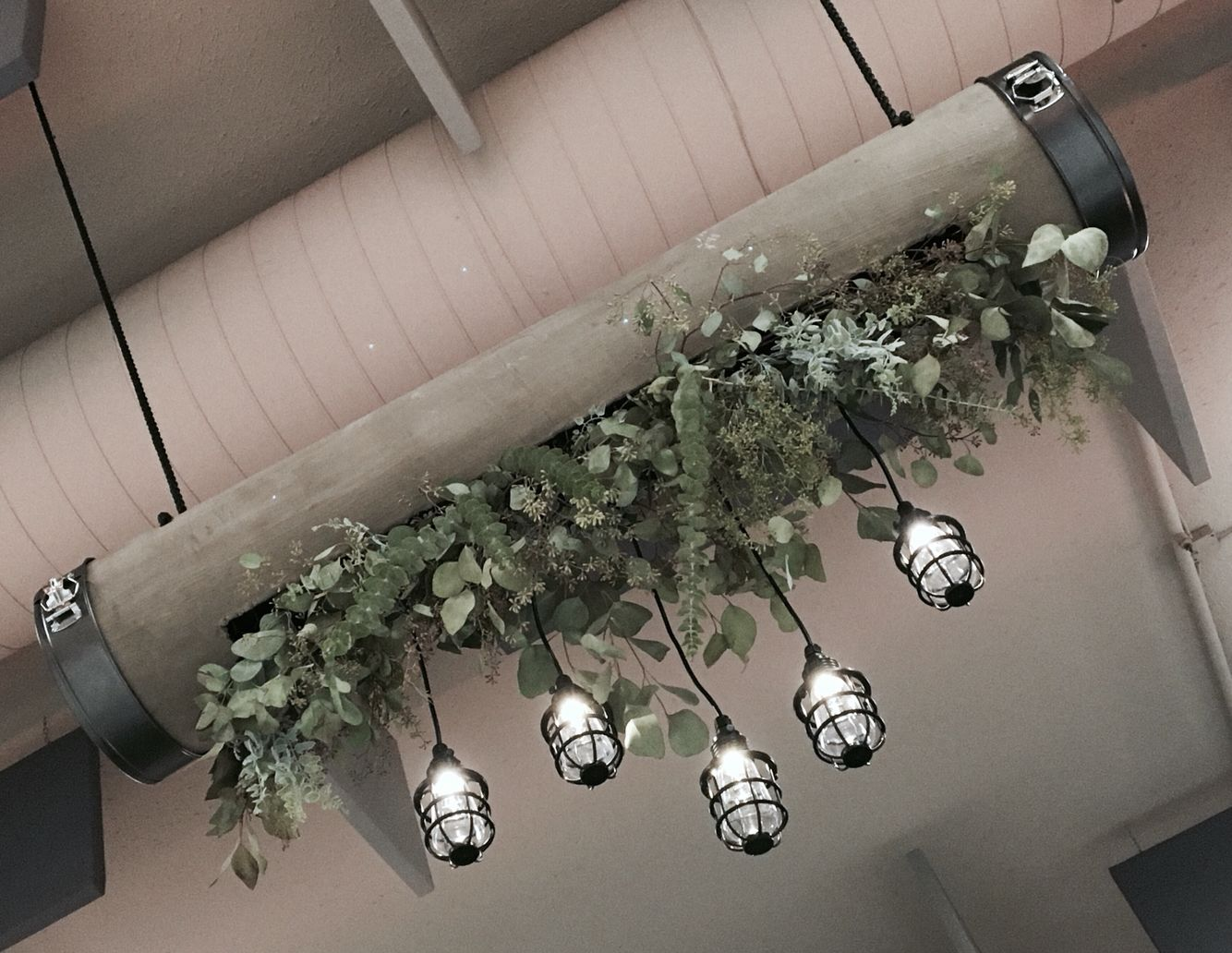 Kronleuchter Floral ~ Concrete floral chandeliers by dana smyl event florist found at