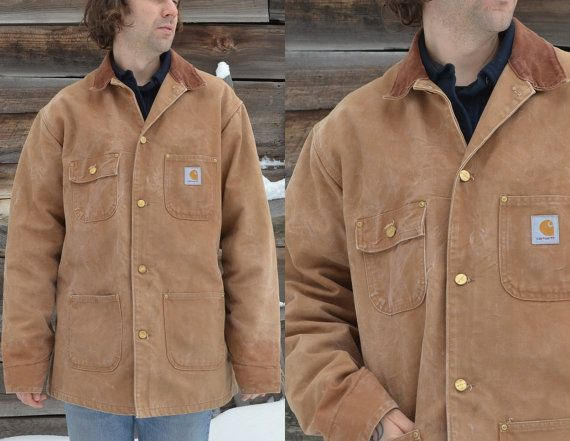 Vintage 90 S Duck Chore Carhartt Barn Coat Jacket Barn Coat