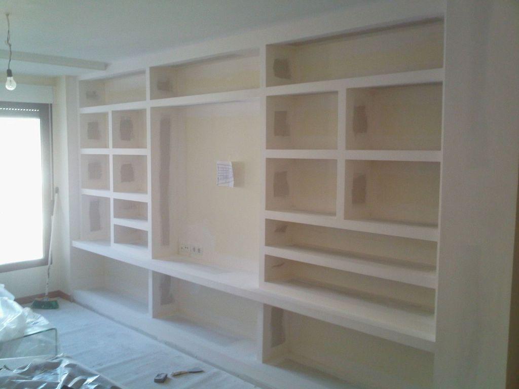 Muebles De Escayola Modernos Perfect Muebles Y Estanteras De Pladur - Muebles-de-mamposteria-de-salon