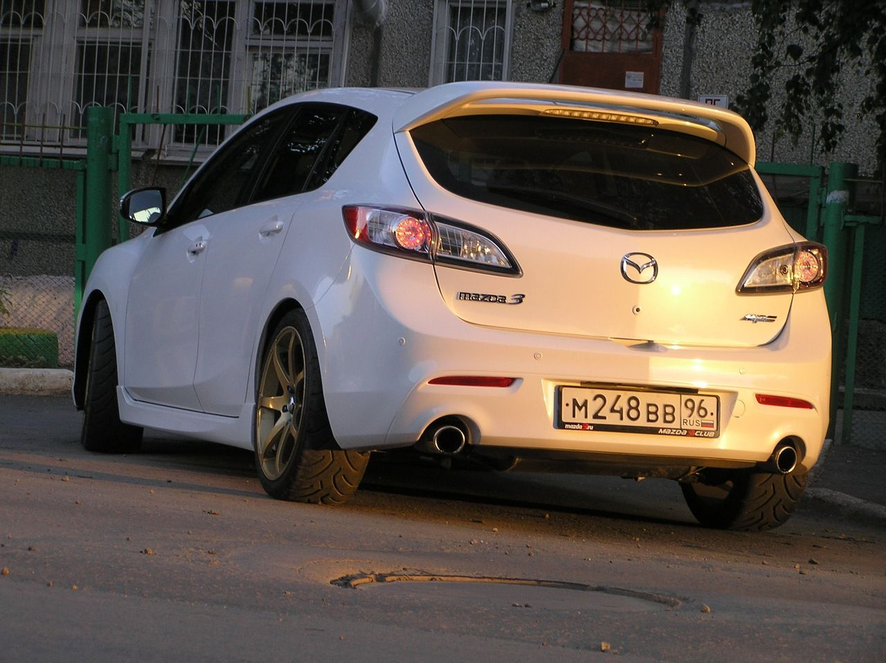 Mazdaspeed3 on eibach springs
