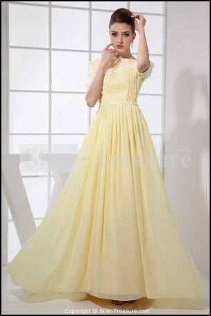 Light Yellow Dresses For Weddings
