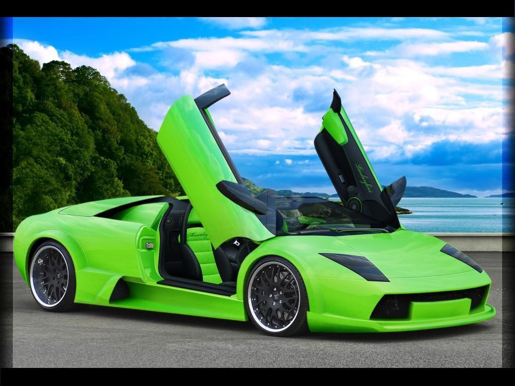 A Beautiful Beach And Beautiful Car I Died And Went To Heaven - Green cool cars