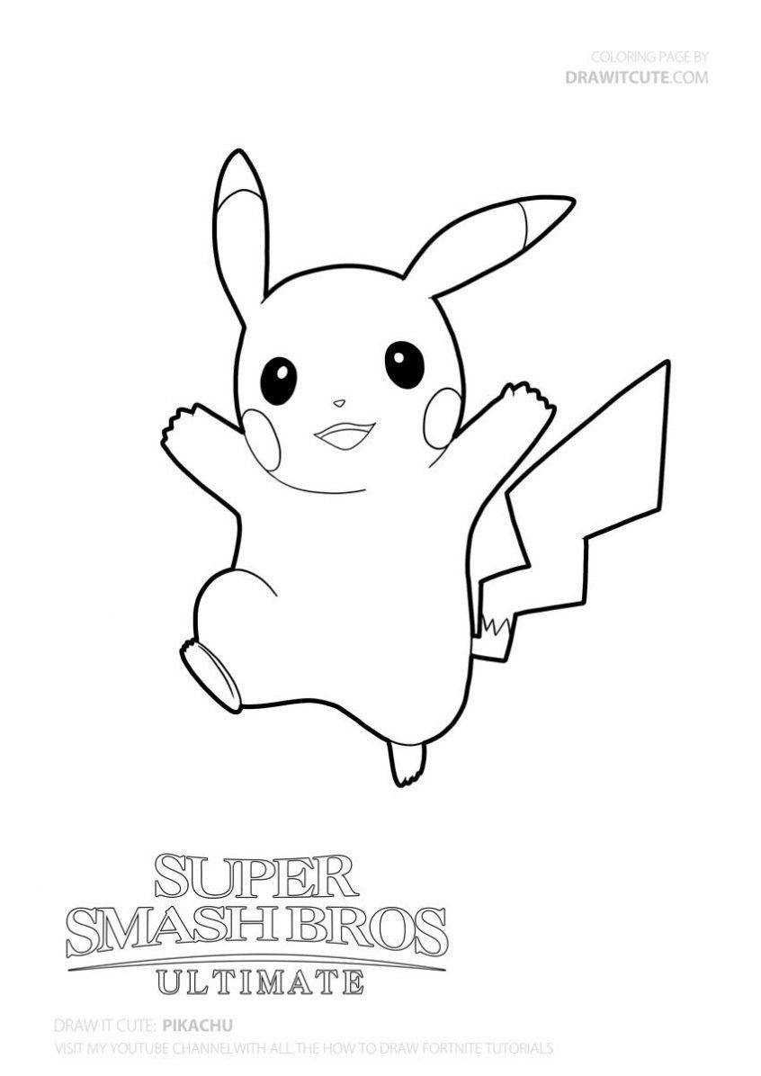 Super Smash Bros Coloring Pages Colouring Pages How Draw Pikachu Super Simple Smash Bros In 2020 Cute Coloring Pages Giraffe Coloring Pages Pokemon Coloring Pages