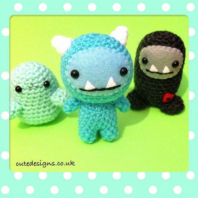 Amigurumi Mini Monsters | Flickr: Intercambio de fotos