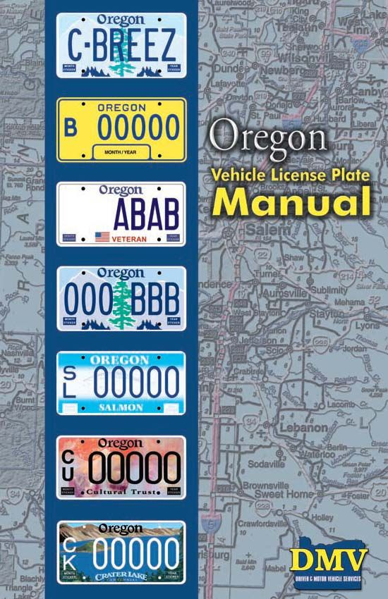 Oregon vehicle license plate manual by Oregon Driver and Motor ...