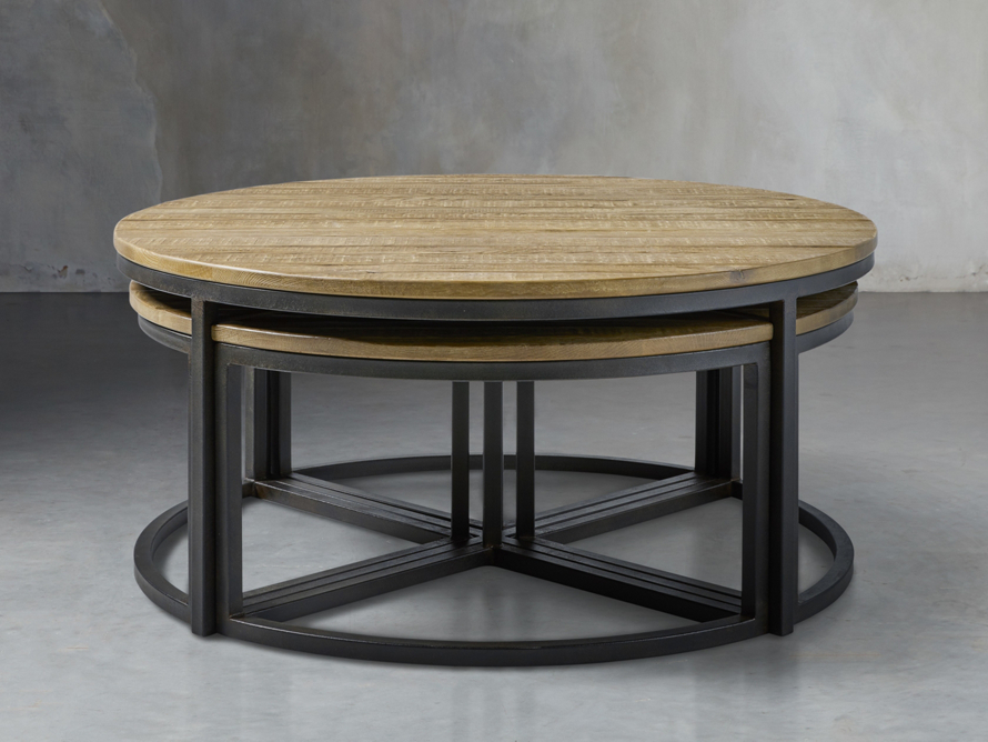 Palmer Round Nesting Coffee Table Arhaus Furniture Round