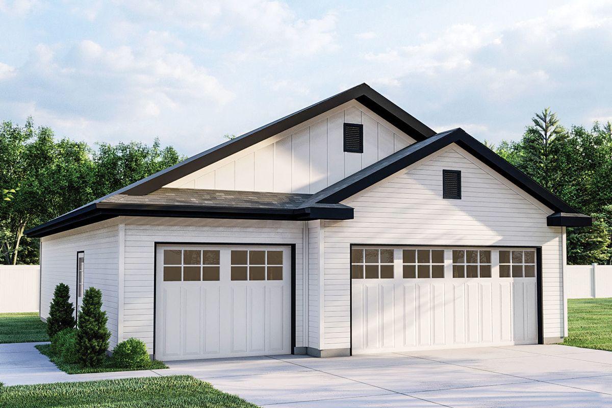 Modern Farmhouse House Plan 963